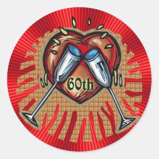 60th Wedding Anniversary Gifts Classic Round Sticker