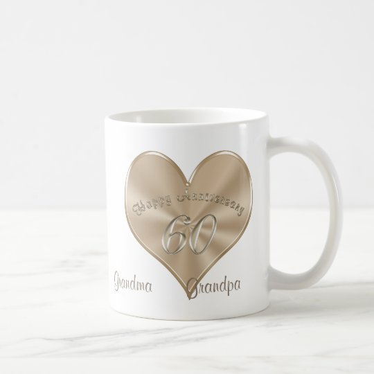 Gift Ideas 60th Wedding Anniversary Grandparents : 60th Wedding Anniversary Gifts for Grandparents Coffee Mug Zazzle