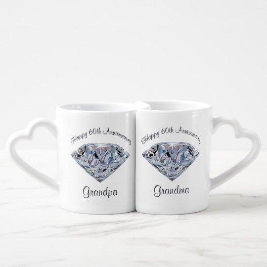 60th Wedding Anniversary Gifts For Grandparents Coffee Mug Set