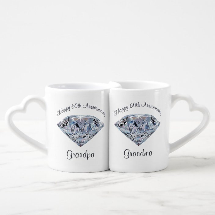 60th Wedding Anniversary Gifts For Grandparents Coffee Mug Set Zazzle Com