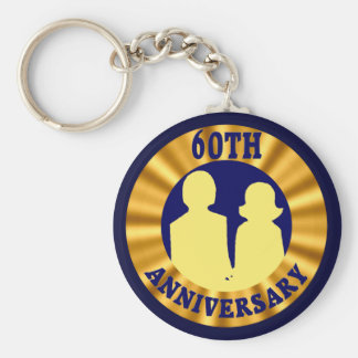 60th Wedding Anniversary Gifts Keychain