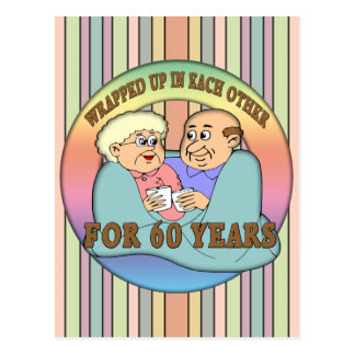 60th Wedding Anniversary Gifts Postcard