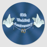 60th Wedding Anniversary Gifts Stickers