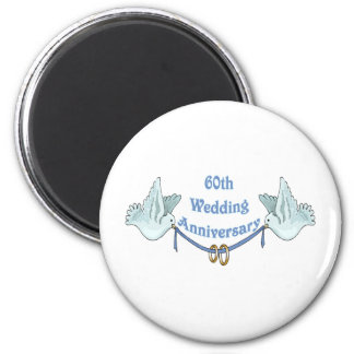 60th wedding anniversary gifts t 2 inch round magnet
