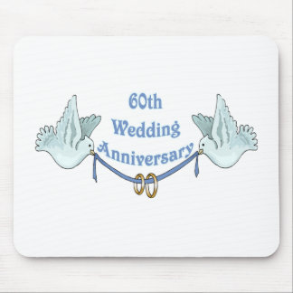 60th wedding anniversary gifts t mouse pad