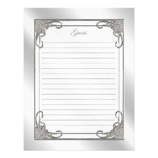 60th Wedding Anniversary Guest List Letterhead