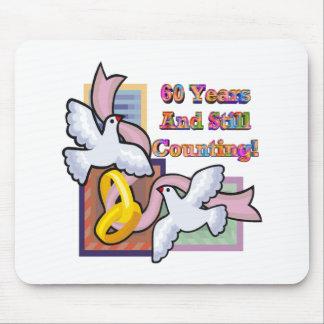 60th wedding anniversary gw mouse pad