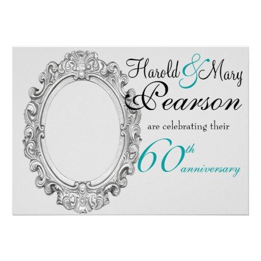 60th wedding anniversary invitation