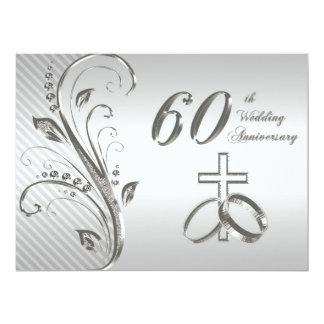"60th Wedding Anniversary Invitation Card 6.5"" X 8.75"" Invitation Card"