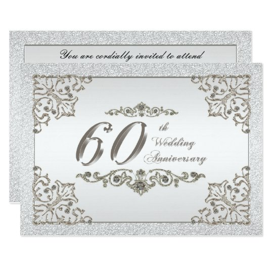 60th wedding anniversary invitation card