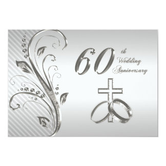 "60th Wedding Anniversary Invitation Card 5"" X 7"" Invitation Card"