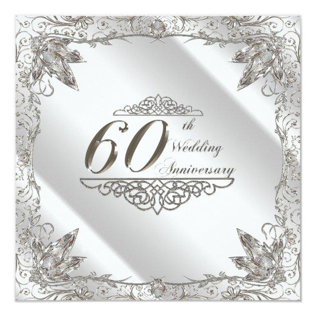 60th Wedding Anniversary Invitation Card | Zazzle