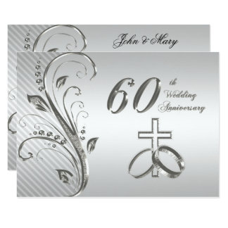 60th Wedding Anniversary Invitations & Announcements | Zazzle