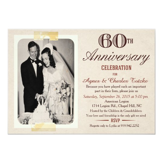 60th Wedding Anniversary Ideas: 60th Wedding Anniversary Invitation