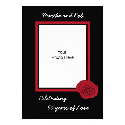 60th Wedding Anniversary Invitation -- Photo