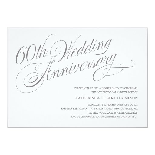 Wedding Anniversary Invitations: 60th Wedding Anniversary Invitations