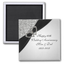 60th Wedding Anniversary Magnet