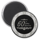 60th Wedding Anniversary Magnet Refrigerator Magnets