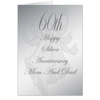 60th Wedding Anniversary Mom And Dad Card