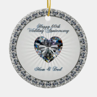 60th Wedding Anniversary Ornament