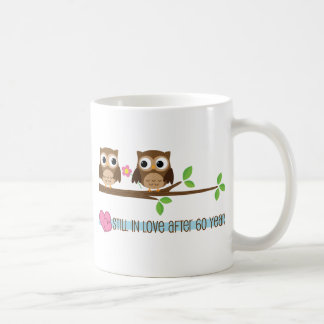 60th Wedding Anniversary Owls Classic White Coffee Mug