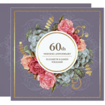 60th Wedding Anniversary Party Invitations