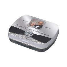 60th Wedding Anniversary Photo Candy Tin at Zazzle