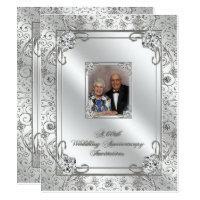 60th anniversary invitations announcements zazzle 60th wedding anniversary photo invitation card stopboris Gallery