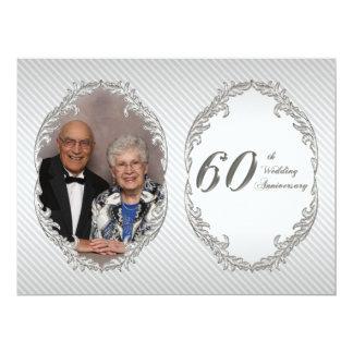 "60th Wedding Anniversary Photo Invitation Card 6.5"" X 8.75"" Invitation Card"