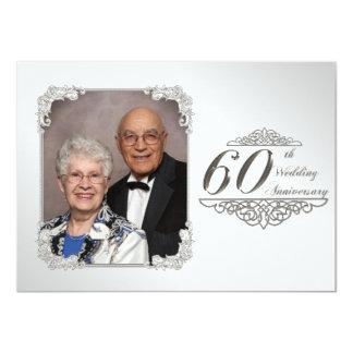 "60th Wedding Anniversary Photo Invitation Card 4.5"" X 6.25"" Invitation Card"
