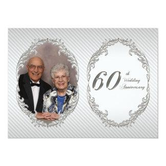 "60th Wedding Anniversary Photo Invitation Card 5.5"" X 7.5"" Invitation Card"