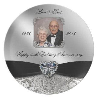 60th Wedding Anniversary Photo Plate