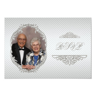 60th Wedding Anniversary Photo RSVP Card Personalized Announcement