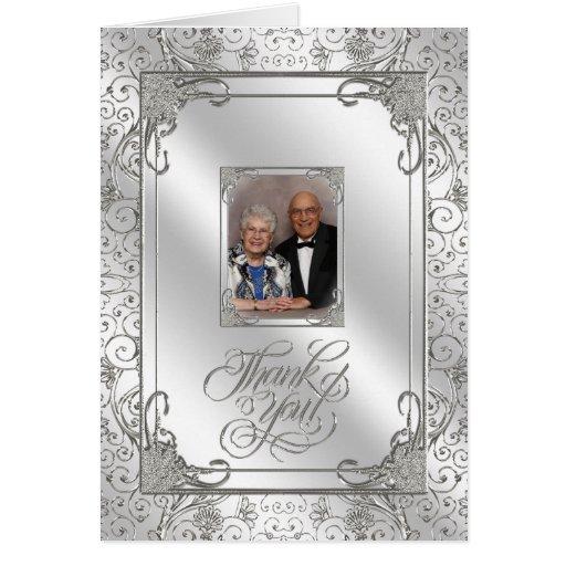 Th wedding anniversary photo thank you card zazzle