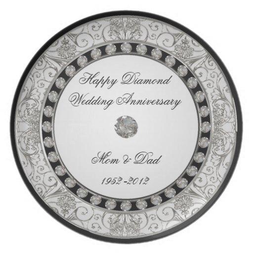 60th Wedding Anniversary Plate