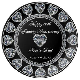 60th Wedding Anniversary Porcelain Plate
