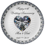 60th Wedding Anniversary Porcelain Plate at Zazzle