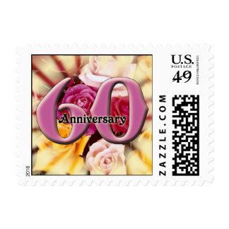 60th Wedding Anniversary Postage Stamp