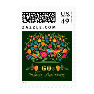 60th Wedding Anniversary Postage Stamps