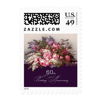 60th Wedding Anniversary Postage Stamps Stamp