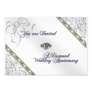 60th Wedding Anniversary RSVP Card Personalized Announcement