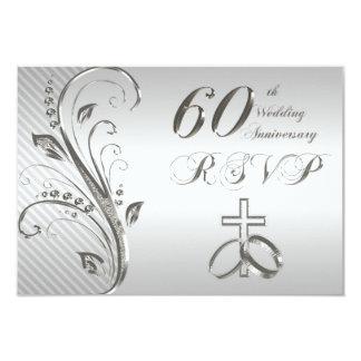 60th Wedding Anniversary RSVP Card Custom Invitations