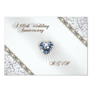 60th Wedding Anniversary RSVP Card Custom Announcements