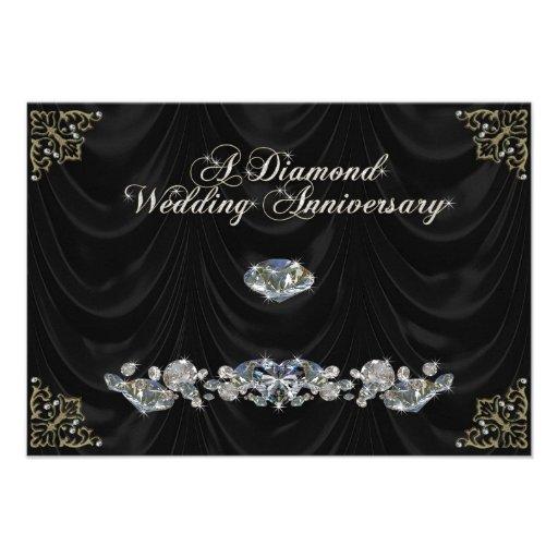 60th Wedding Anniversary RSVP Card Invitation
