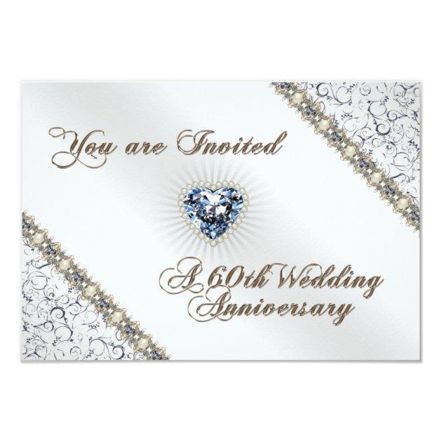 60th wedding anniversary rsvp invitation card zazzle