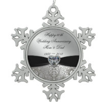 60th Wedding Anniversary Snowflake Ornament
