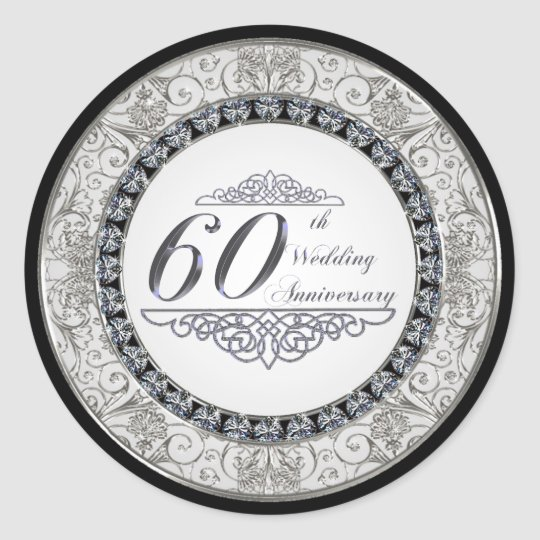 60th Wedding Anniversary Sticker