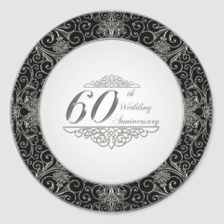 60th Wedding Anniversary Sticker