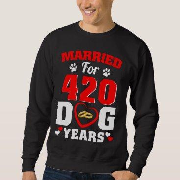Wedding Themed 60th Wedding Anniversary T-Shirt For Dog Lover.