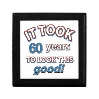 60th year birthday designs keepsake box